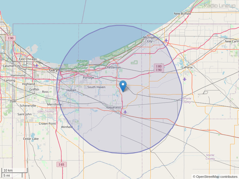 WLJE-FM Coverage Map