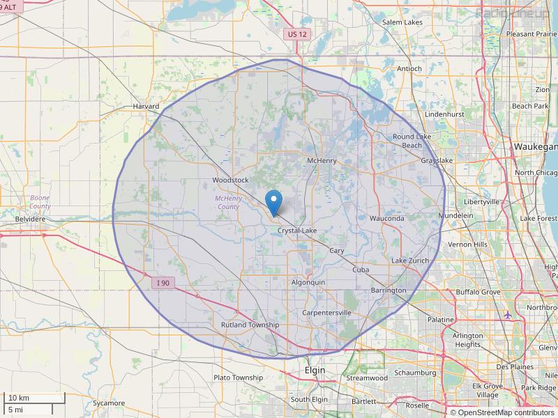 WZSR-FM Coverage Map