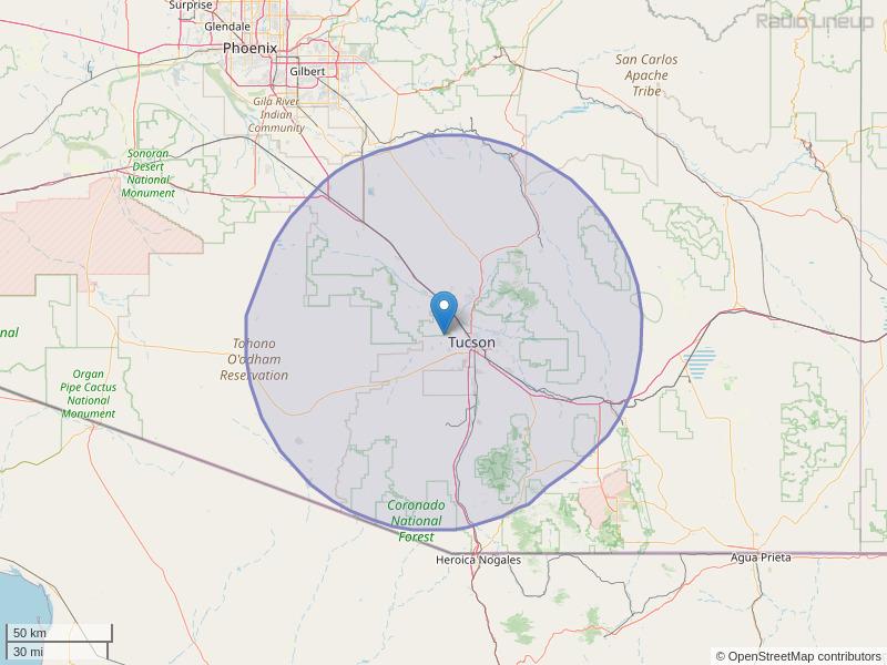 KRQQ-FM Coverage Map