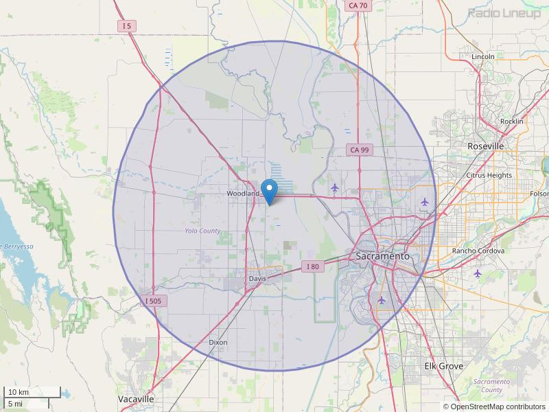 KXSE-FM Coverage Map