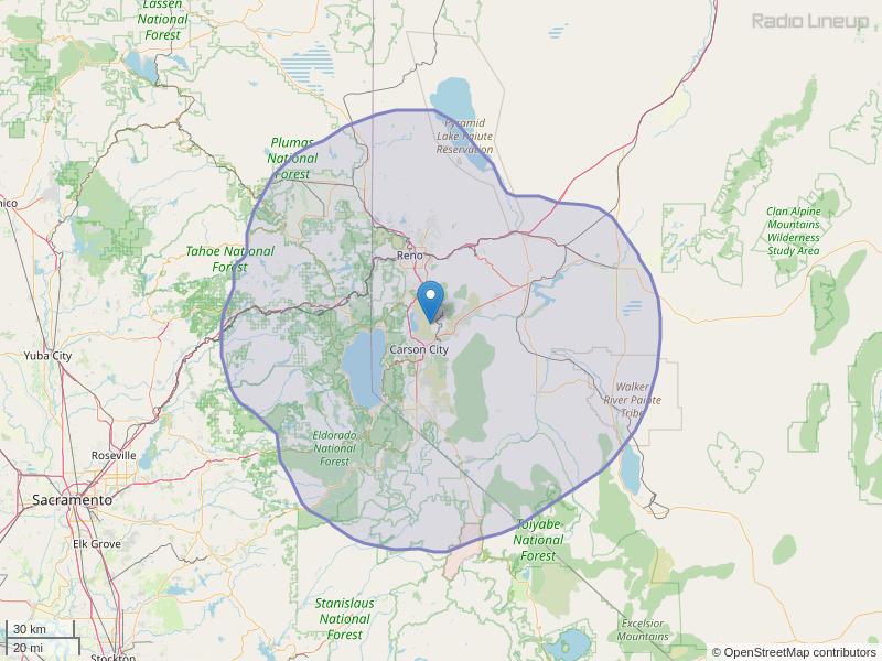 KOLC-FM Coverage Map
