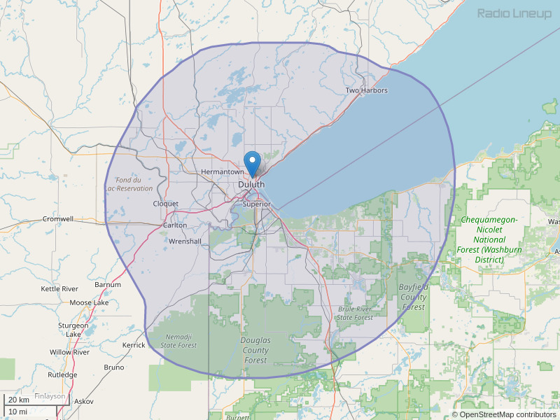 KLDJ-FM Coverage Map
