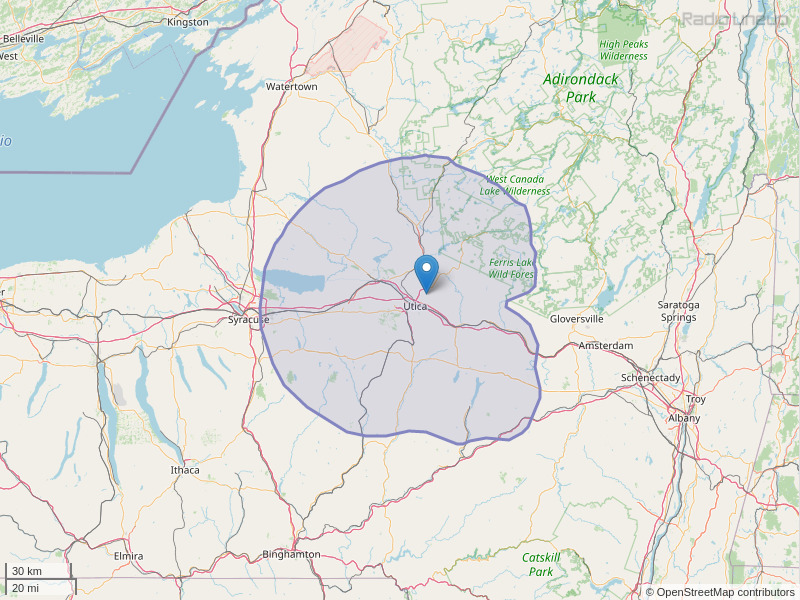 WKVU-FM Coverage Map