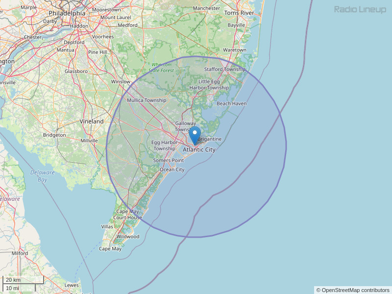 WPUR-FM Coverage Map