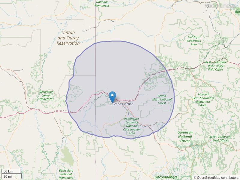 KMXY-FM Coverage Map