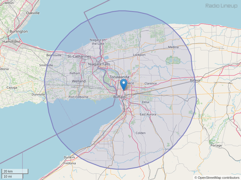 WEDG-FM Coverage Map