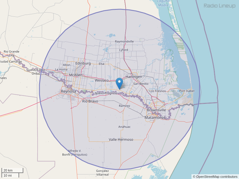 KKPS-FM Coverage Map