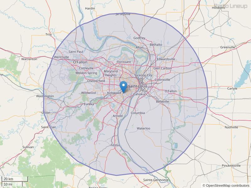 KPNT-FM Coverage Map