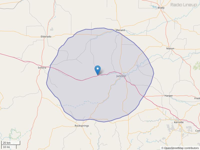 KYKK-FM Coverage Map