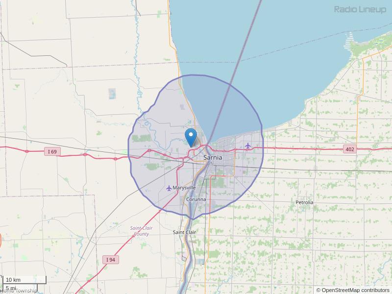 WNFA-FM Coverage Map
