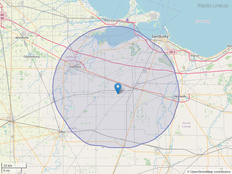 WMJK-FM Coverage Map