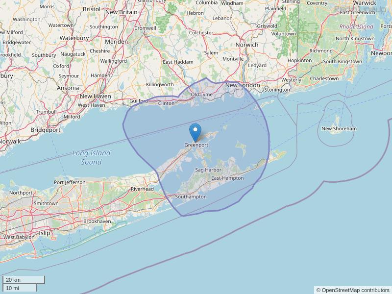 WSUF-FM Coverage Map