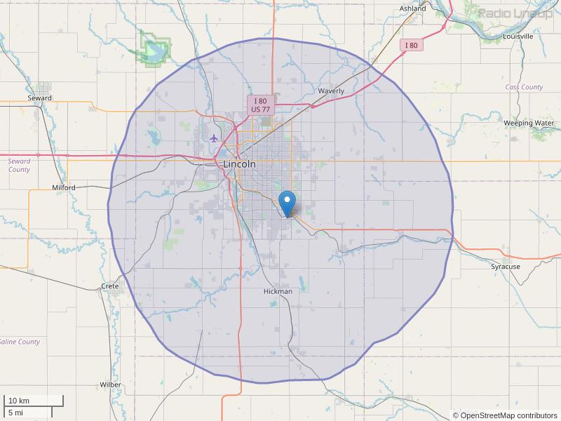 KLNC-FM Coverage Map
