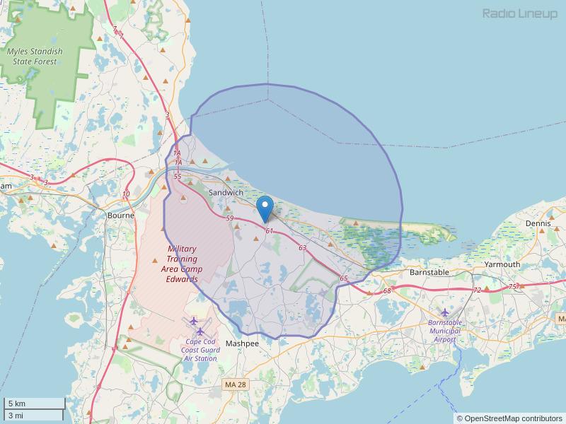 WSDH-FM Coverage Map