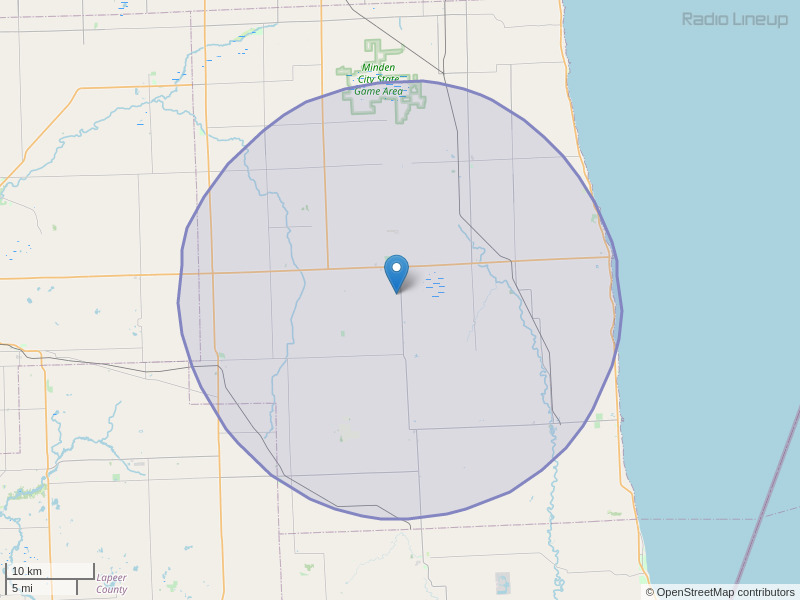 WTGV-FM Coverage Map