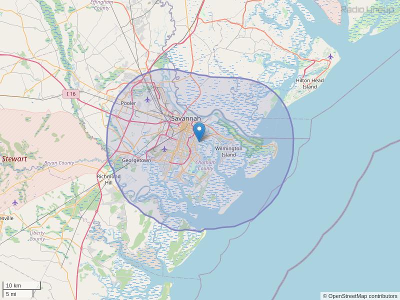 WHCJ-FM Coverage Map
