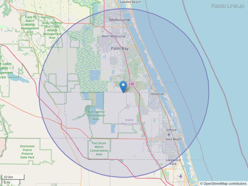 WROK-FM Coverage Map
