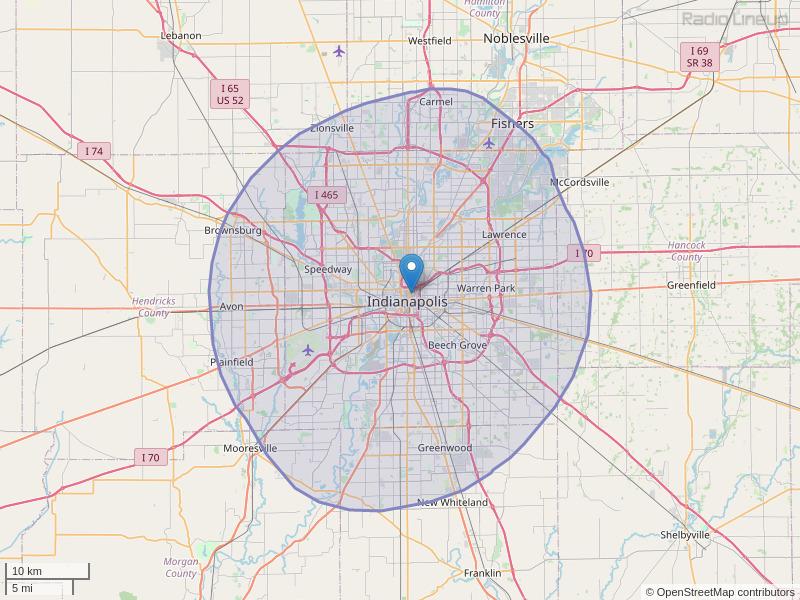 WHHH-FM Coverage Map