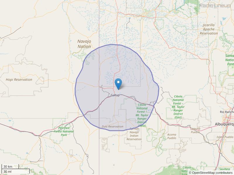 KGLX-FM Coverage Map