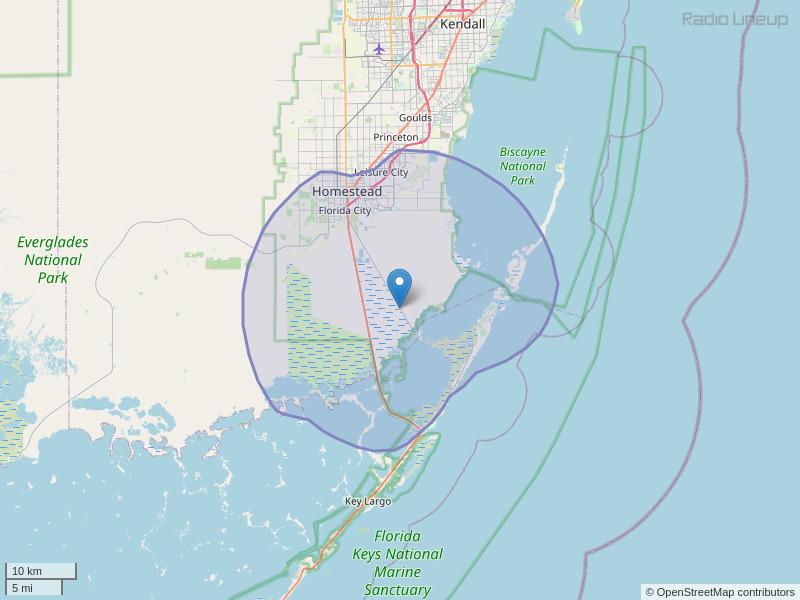 WMFL-FM Coverage Map