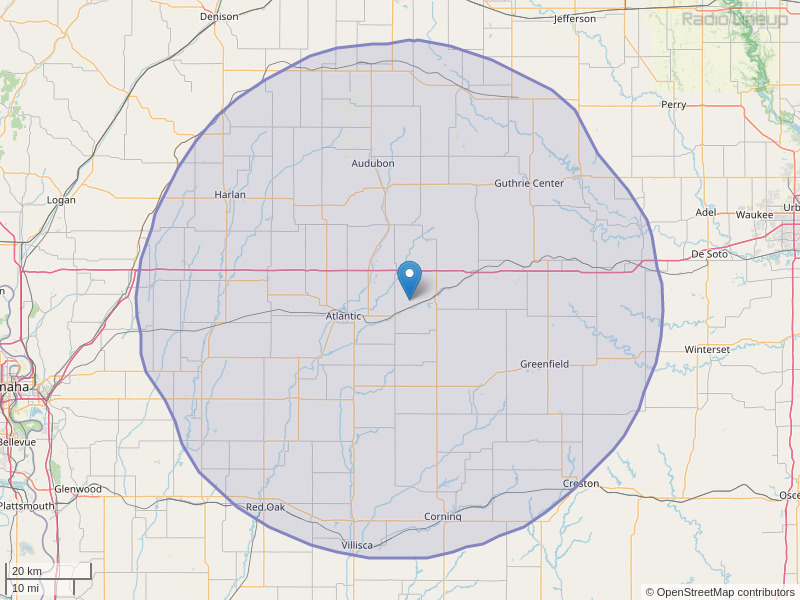 KSOM-FM Coverage Map