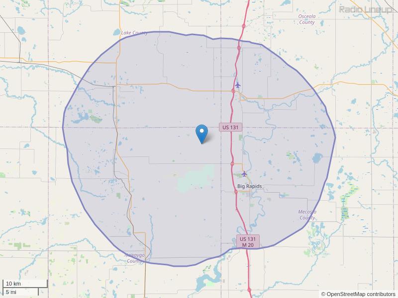 WDEE-FM Coverage Map