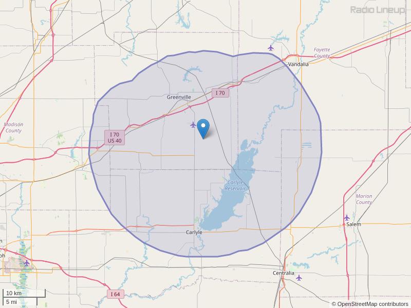 WGEL-FM Coverage Map