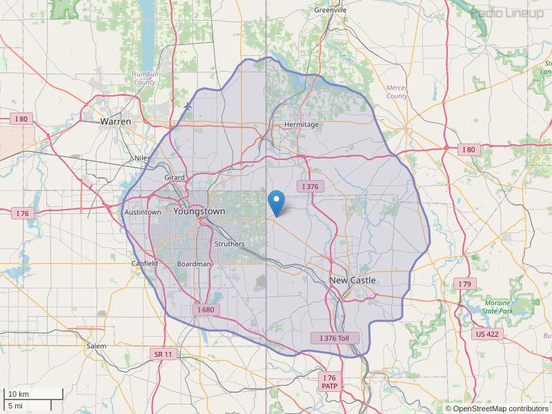 WYLR-FM Coverage Map