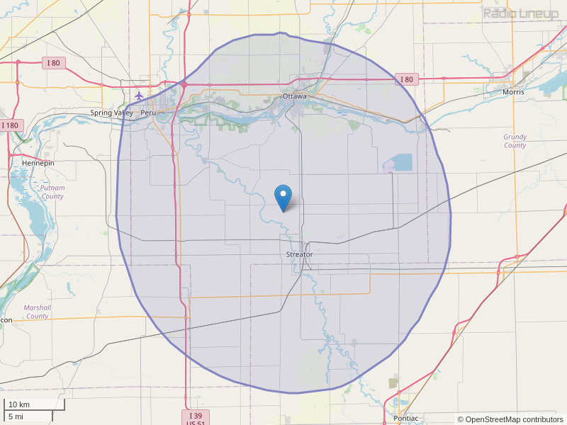 WSTQ-FM Coverage Map