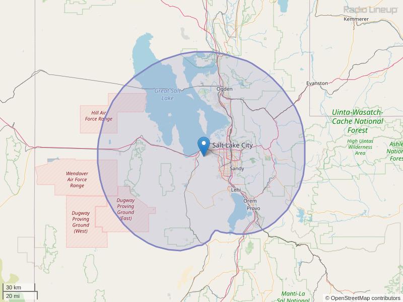 KAAZ-FM Coverage Map
