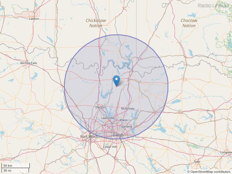 KZMJ-FM Coverage Map
