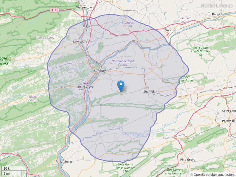 WEGH-FM Coverage Map