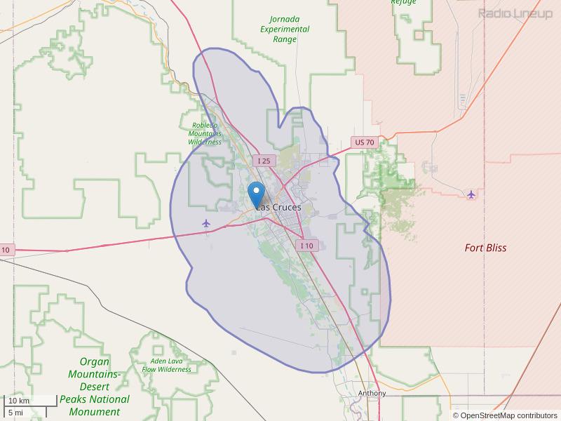 KGRT-FM Coverage Map