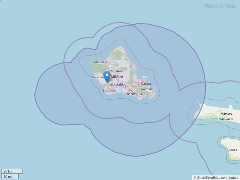 KGU-FM Coverage Map