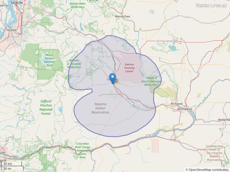 KATS-FM Coverage Map
