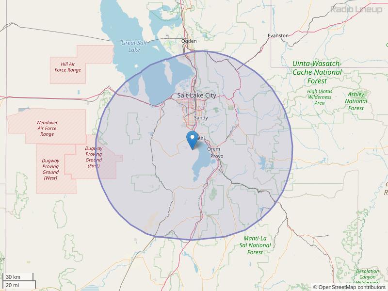 KENZ-FM Coverage Map