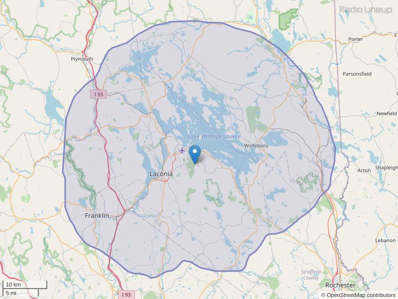 WLKZ-FM Coverage Map