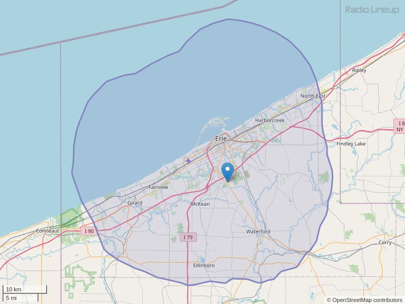 WQHZ-FM Coverage Map