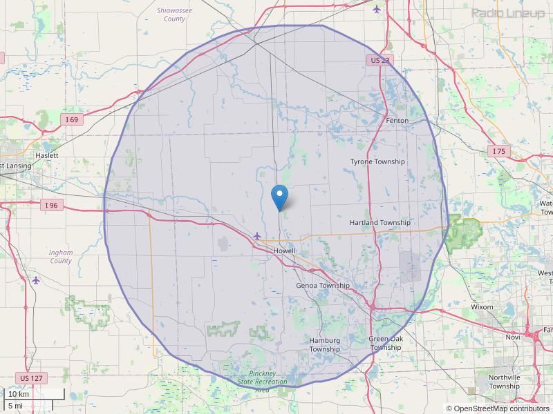 WHMI-FM Coverage Map