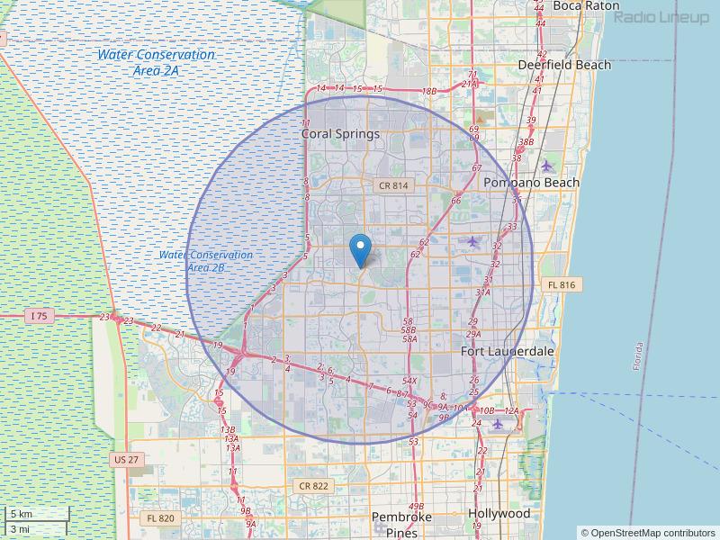 WKPX-FM Coverage Map