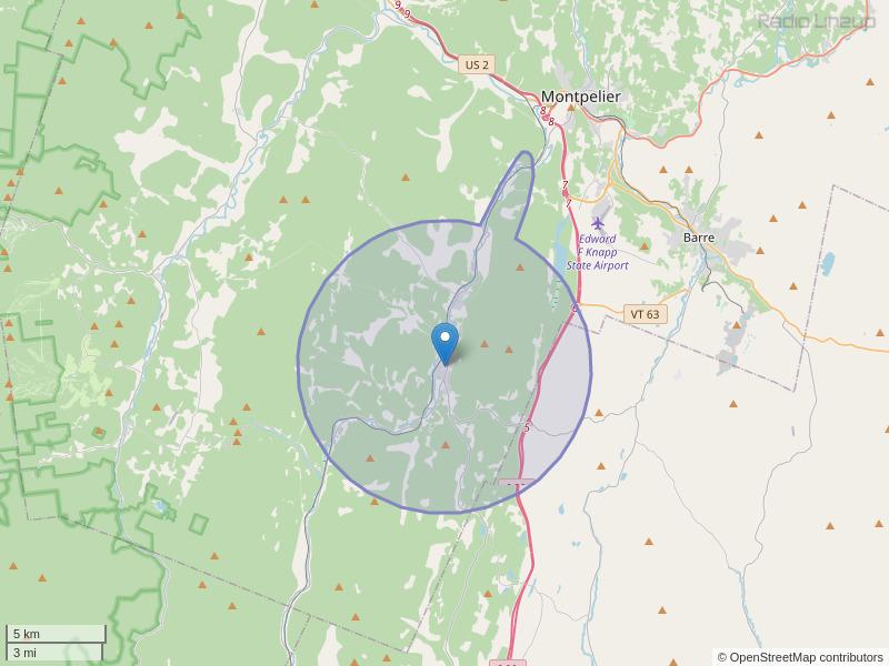 WNUB-FM Coverage Map