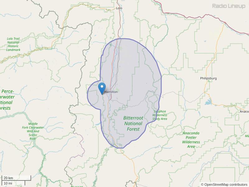 KUFN-FM Coverage Map