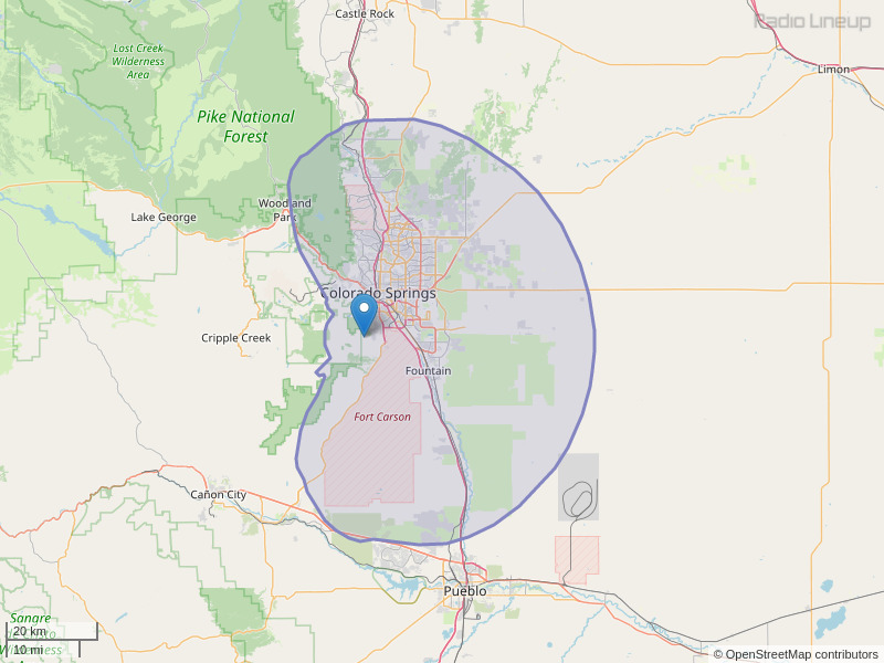 KIBT-FM Coverage Map