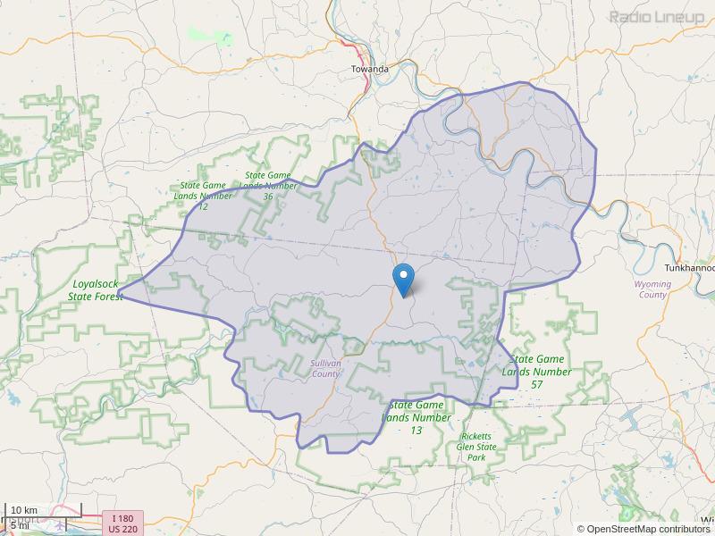 WGMF-FM Coverage Map
