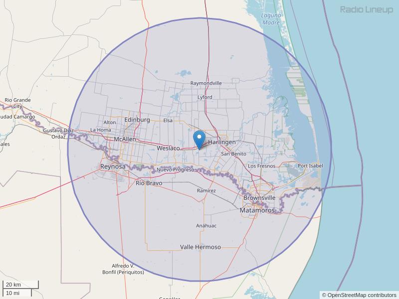KBTQ-FM Coverage Map