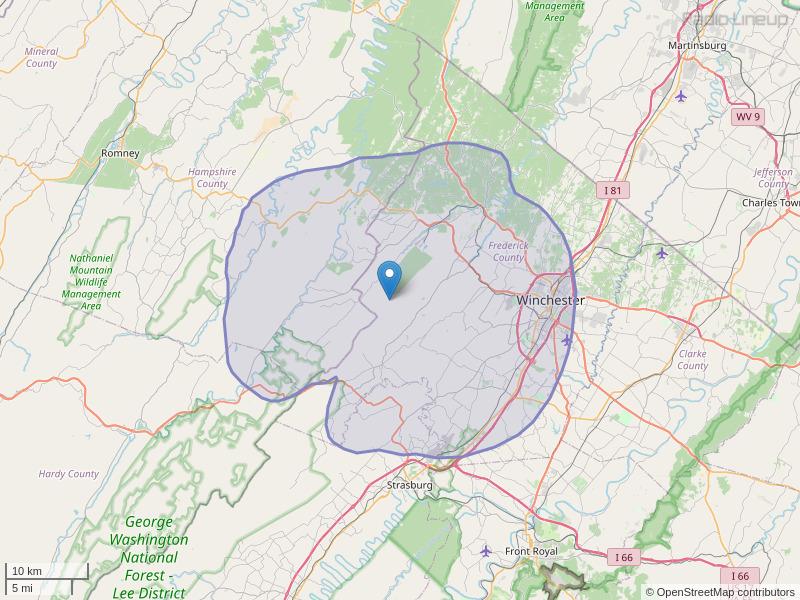 WTRM-FM Coverage Map