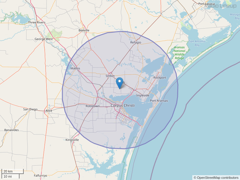 KNCN-FM Coverage Map