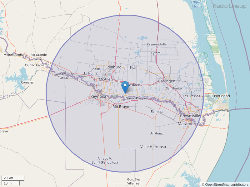 KVLY-FM Coverage Map