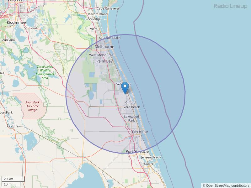 WQOL-FM Coverage Map