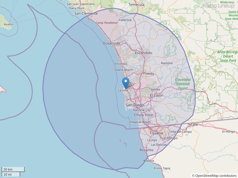 KSSX-FM Coverage Map